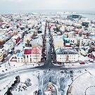 View over Reykjavik by Victoria Ashman