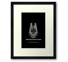 Halo O.D.S.T Feet First Into Hell Framed Print