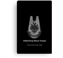 Halo O.D.S.T Feet First Into Hell Canvas Print