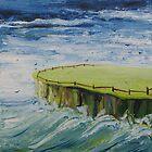 Au bord de l'eau la clôture me retient by Julie Lebrun