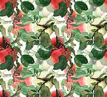 Watercolor apples by Julia Hromova