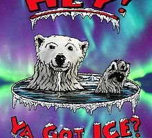 "Waving Polar Bear: ""Hey! Ya Got ICE?"" by torg"