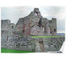 Rhuddlan Castle North Wales UK Poster