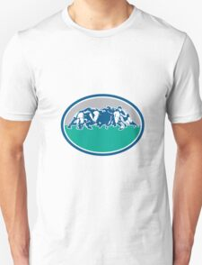 Rugby Union Scrum Oval Retro Unisex T-Shirt