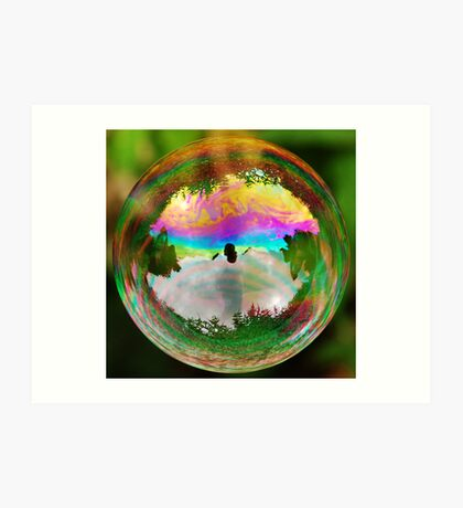 Leafy Bubble Art Print
