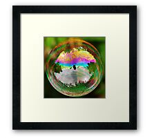 Leafy Bubble Framed Print