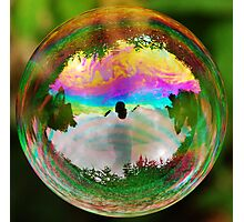 Leafy Bubble Photographic Print