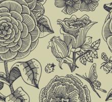 Garden Bliss - vintage floral illustrations Sticker