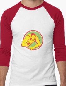 Shot Put Track and Field Athlete Retro T-Shirt