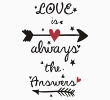 Love is always the answers Kids Clothes