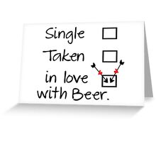 in love with beer Greeting Card