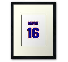 National baseball player Remy Hermoso jersey 16 Framed Print