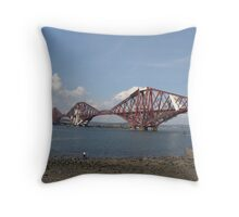 Forth Rail bridge, south queensferry, scotland Throw Pillow