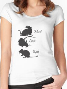 Must. Love. Rats - 3 Rats Down Women's Fitted Scoop T-Shirt