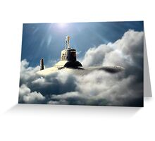 Sub in clouds Greeting Card