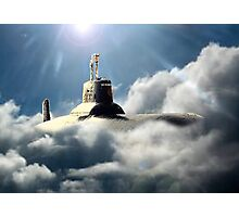 Sub in clouds Photographic Print