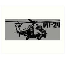 Mi-24 Art Print