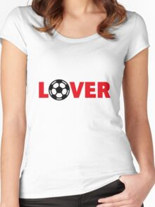 Football – Lover / Soccer – Lover Women's Fitted Scoop T-Shirt