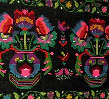A Wall Carpet from a Peasant Cottage Loom in Barda Village, Romania by Dennis Melling