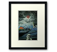 a snapshot in the middle of creation Framed Print