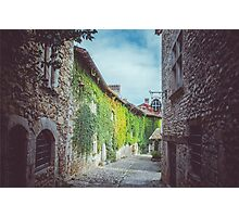 Cobble Stone Town in France Photographic Print