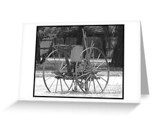 Historic Farm Plow Greeting Card