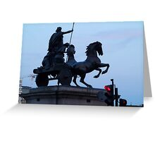 Queen Boudicca stopped at a red light Greeting Card