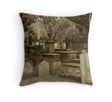 Old Southern Cemetery  Throw Pillow