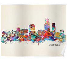 Corpus Christi Texas skyline Poster