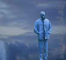 Lil Lonely Boy Blue Version 2  by Amber Elizabeth Fromm Donais