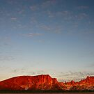 Sunset at Rainbow Valley by Blue Gum Pictures