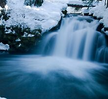 Snowy Whitehorse Falls on Clearwater Creek # 2 by OrPhotoJohn