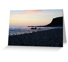 Whale rock  sunset Greeting Card