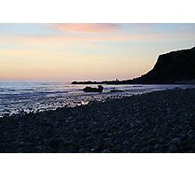 Whale rock  sunset Photographic Print