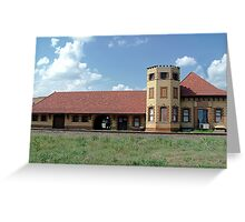 Historic Train Depot Passenger Station I Greeting Card
