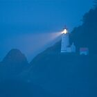 Heceta Head Lighthouse at Dusk by OrPhotoJohn
