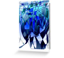 untitled# (blue & white) Greeting Card