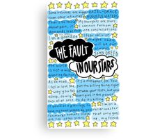 The Fault In Our Stars quotes collage Canvas Print