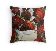 Chocolate Covered Strawberries II Throw Pillow