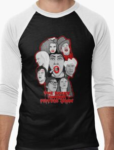 rocky horror picture show 40th anniversary tribute Men's Baseball ¾ T-Shirt