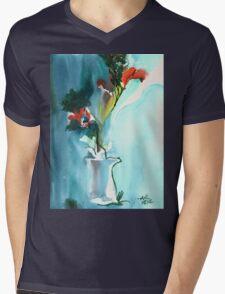 Flowers in Vase Mens V-Neck T-Shirt