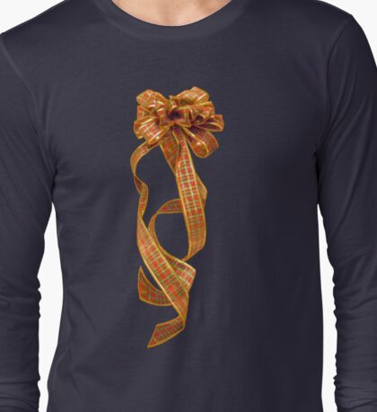 Christmas Ribbon Long Sleeve T-Shirt