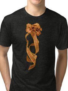 Christmas Ribbon Tri-blend T-Shirt