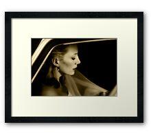 The Bride... Framed Print