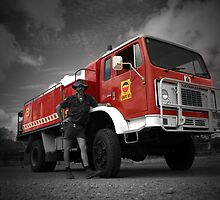 Fire Truck Red by Keiran Lusk