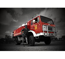 Fire Truck Red Photographic Print