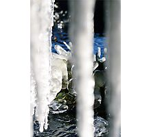 Glittering ice Photographic Print