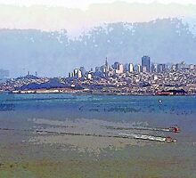 Painterly San Francisco (City and Bay) by SteveOhlsen