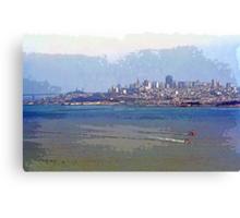 Painterly San Francisco (City and Bay) Canvas Print