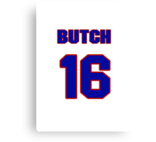 National baseball player Butch Nieman jersey 16 Canvas Print